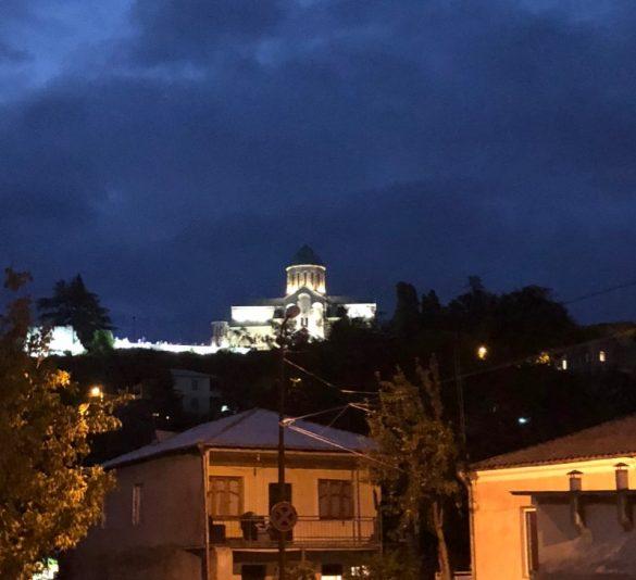 Bagrati Cathedral At Night