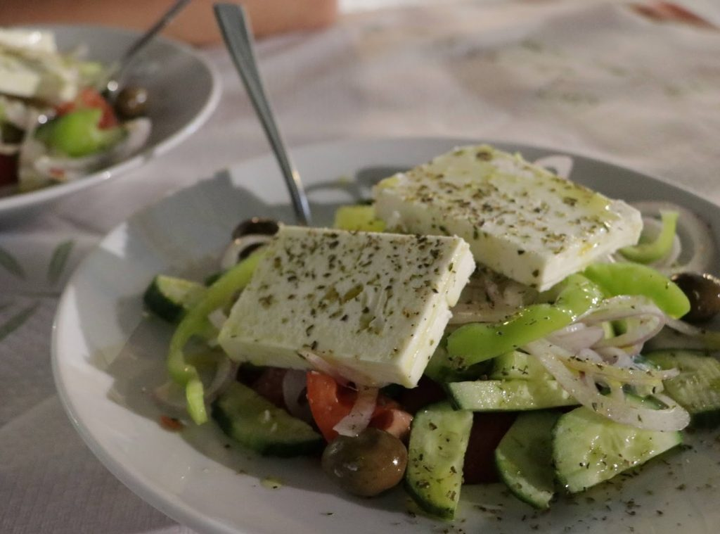 Greek Salad in Corfu