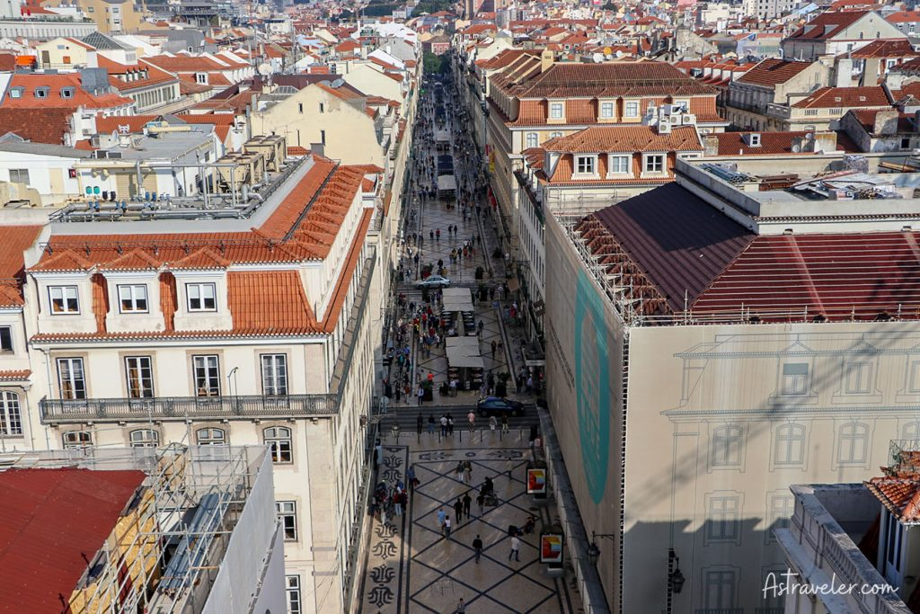 View from Arco da Rua Augusta