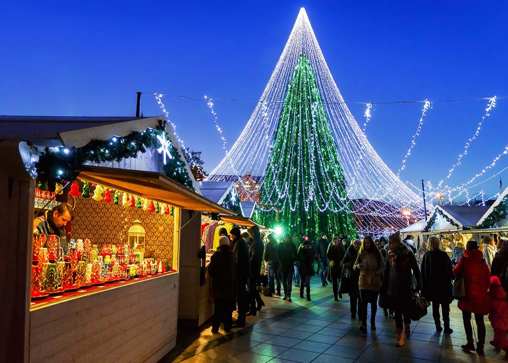 Vilnius Christmas Market and Tree
